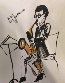 A sketch from the RCM Saxophone Ensemble Concert, 2017 by Tamara Tolley